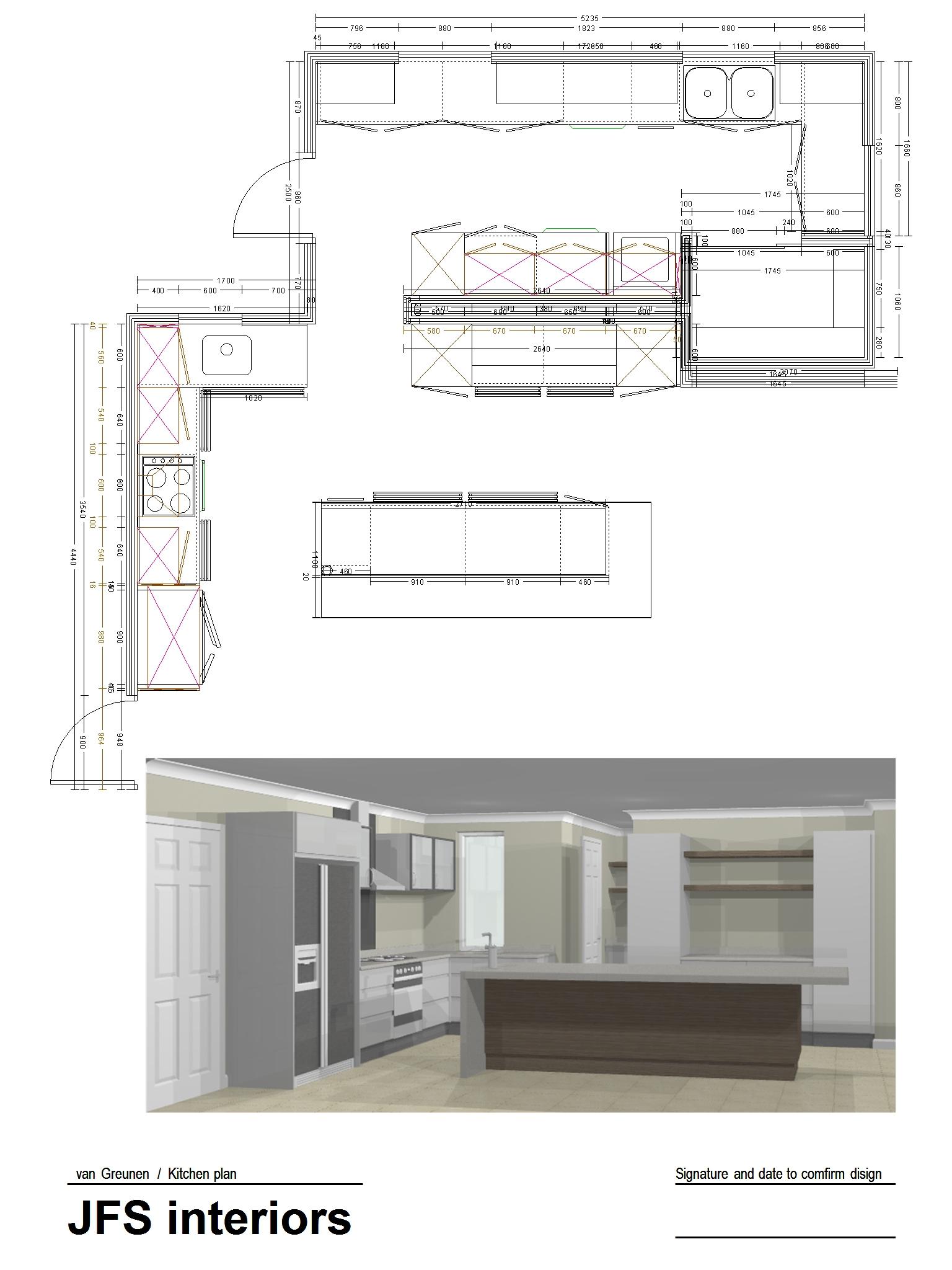jbp van Greunen Kitchen plan